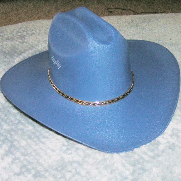b4e35a48a49ff Canvas Cattleman Dark Blue Cowboy Hat. M 5b7600f0aa87700666bd8832. Other  Accessories ...